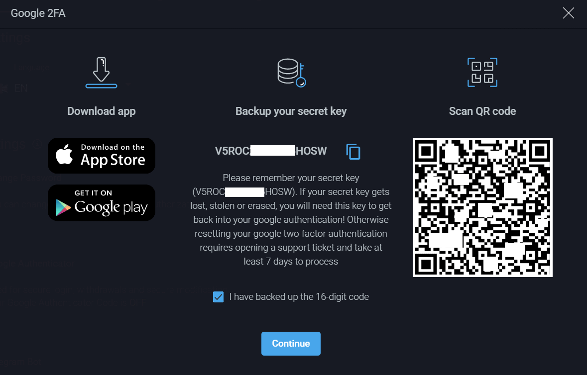 PrimeXBT Review 2FA Google Authenticator Step by Step